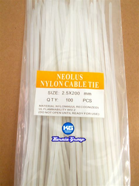 Kabel Tis Cable Tie 2 5 X 200 Mm 20cm jual kabel ties panjang 20cm size 3 6x200mm putih