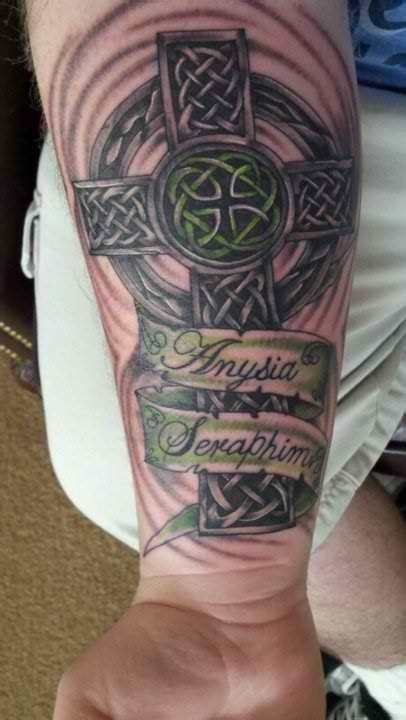 celtic cross tattoos with names celtic cross w names