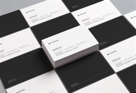 black and white business card template word 14 black and white business card templates editable psd