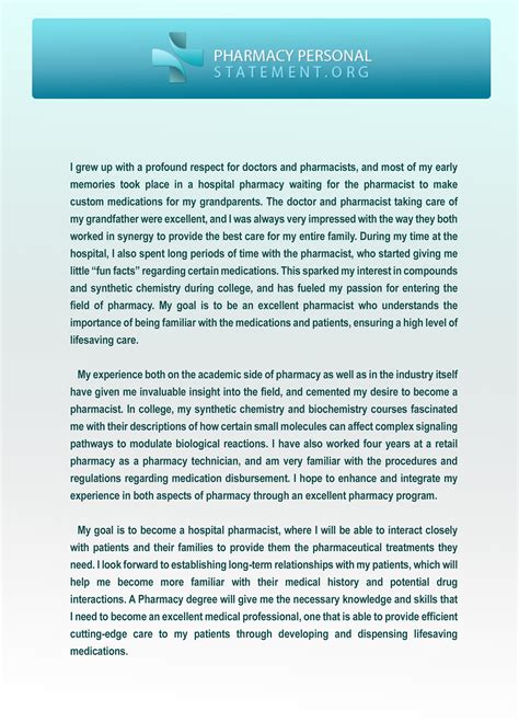 Pharmacy Personal Statement Essay by We Provide Pharmacy Personal Statement Exles