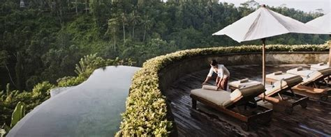 hanging infinity pools bali multi level infinity pool at ubud resort in bali enpundit