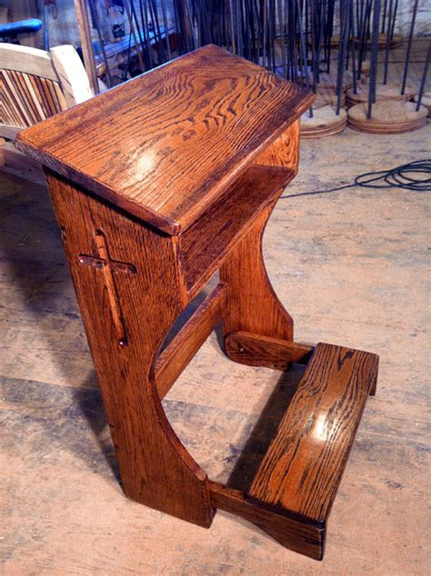 prayer bench kneeler folding prayer kneeler or prie dieu from reclaimed oak