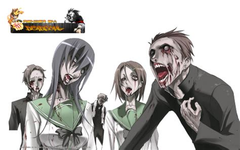anime zombie school highschool of the dead zombie render by lordrender on