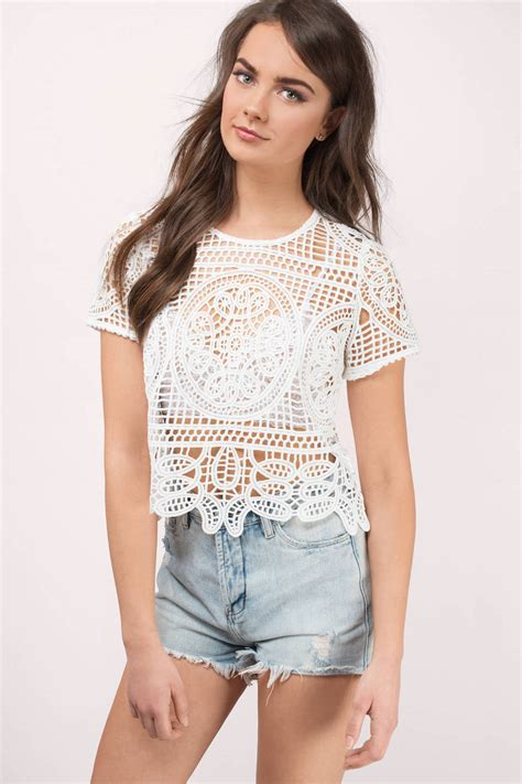 White Top by White Top Festival Top Lace Top White Tees