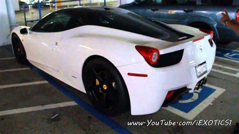 458 italia white and black two tone white black 458 italia walkaround