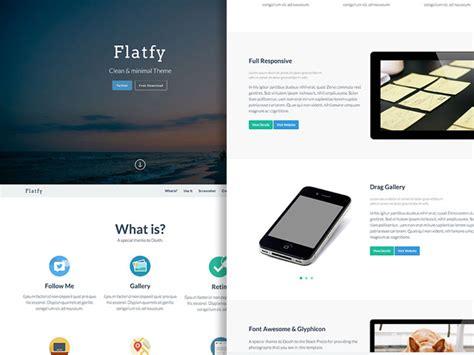 flatfy flat minimal html template freebiesbug