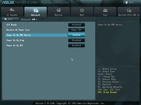 on lan on lan wol for asus m5a97 built in realtek network