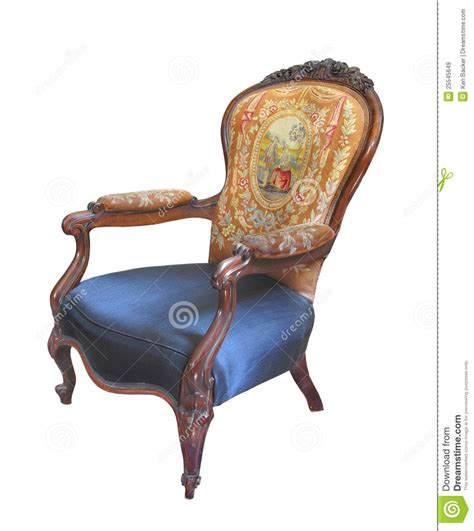 Barber Chair Tree Antique Fancy Chair Isolated Royalty Free Stock Images