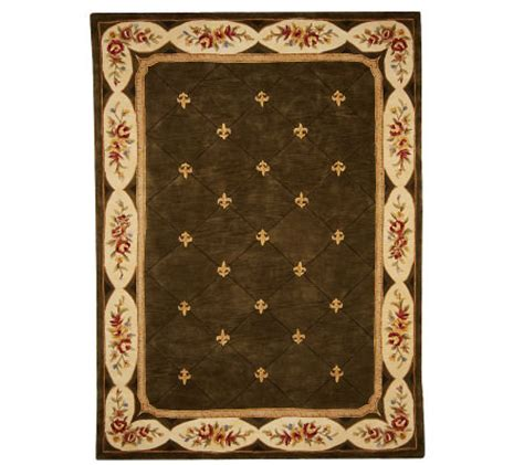 royal palace handmade rug royal palace antique fleur de lis 8 x11 handmade wool rug qvc