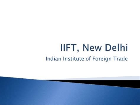 Why Mba From Iift by Iift