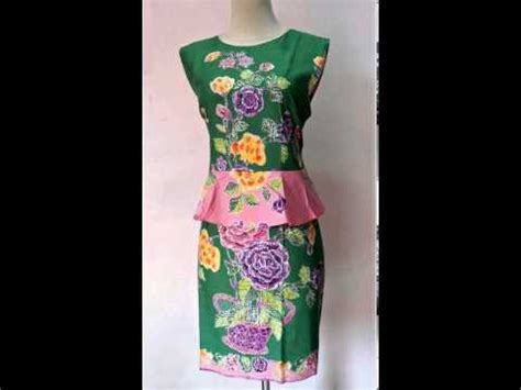 Supplier Baju Basic Dress Hq 8 dress batik model baju kate middleton ijo