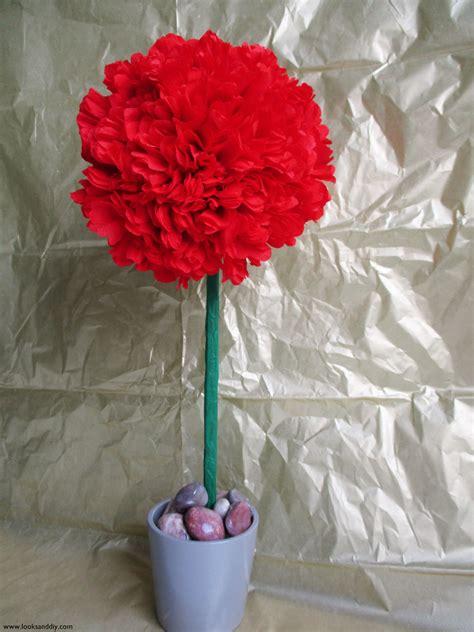 como hacer topiarios de flores topiarios de papel como