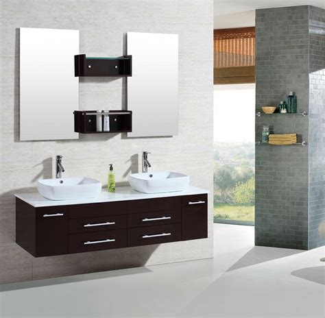Modern Bathroom Sink Cabinets by 60 Quot Modern Bathroom Vanities Cabinet Floating
