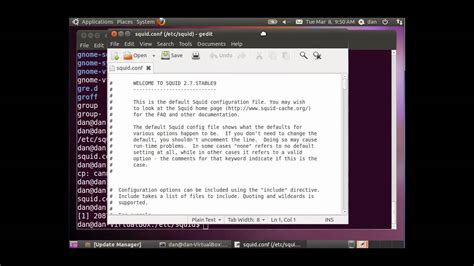 tutorial install squid ubuntu install configure squid proxy server in ubuntu 1 3