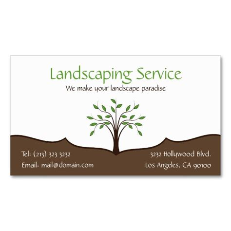 Landscape Design Business Card Templates by Landscaping Service Tree Nature Logo Business Card