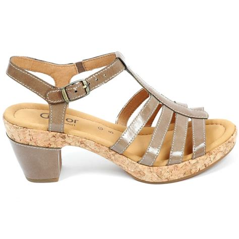 wide sandals gabor shoes impression wide fitting sandal shoe in taupe