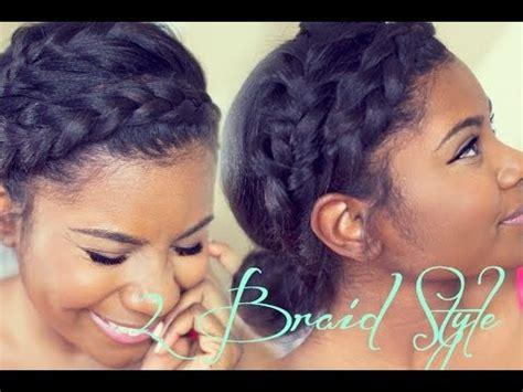 double braid hairstyle   goddess braid & fishtail braid