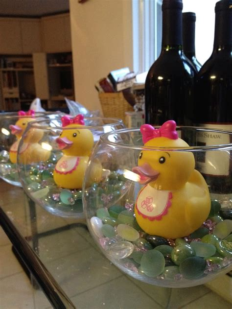 rubber duck baby shower centerpieces centerpieces with glass bowls multi colored marbles pink