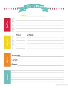 Daily Time Planner Template by 40 Printable Daily Planner Templates Free Template Lab