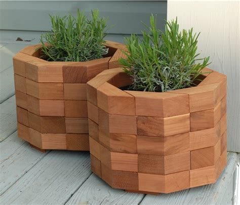 items similar to octagonal red cedar planter box on etsy