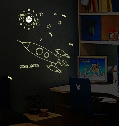 space rocket wall stickers space rocket glow in the wall sticker wssa1101y
