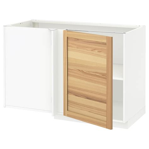 Corner Base Cabinet by Metod Corner Base Cabinet With Shelf White Torhamn Ash