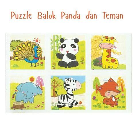 Mainan Edukatif Puzzle Kayu Gambar Zebra puzzle kubus 6 sisi mainan puzzle kubus kayu mainan