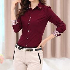 Basic Office Shirt 3 2016 new office shirts blouses pink purple