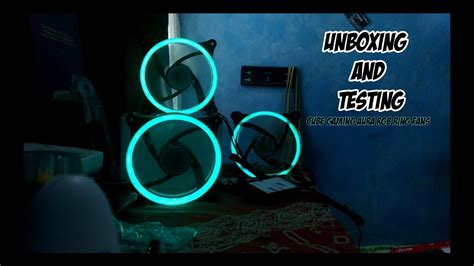 Cube Gaming Aura Rgb 3xdouble Ring Fans Wireless Remote unboxing and testing cube gaming aura rgb led ring pack
