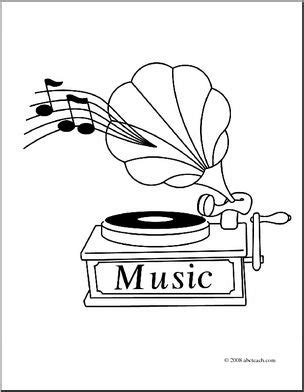 abcteach coloring pages clip art gramophone coloring page i abcteach com abcteach