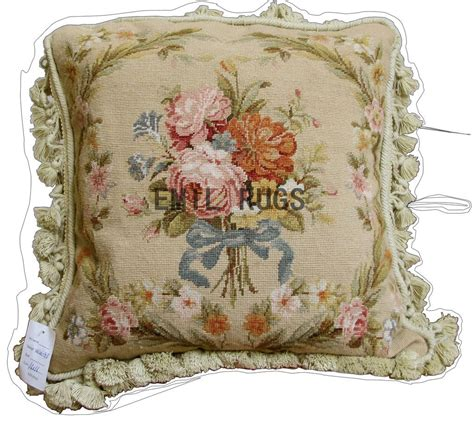 Needlepoint Pillow by 100 Wool Aubusson Petitpoint 16 Quot X 16