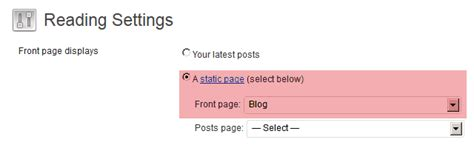 3 ways to display posts in one category on front page of