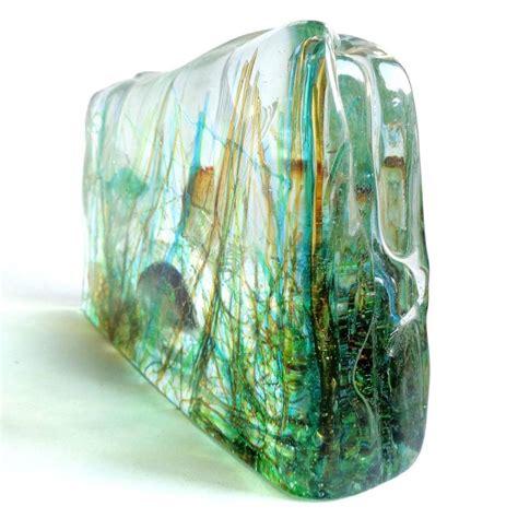 lighted base for glass sculpture cenedese murano three fish italian art glass aquarium