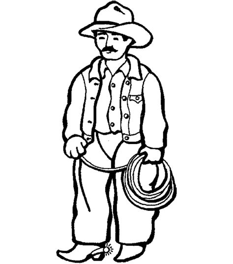 Cowboy Coloring Pages Coloringpages1001 Com Cowboy Colouring Pages