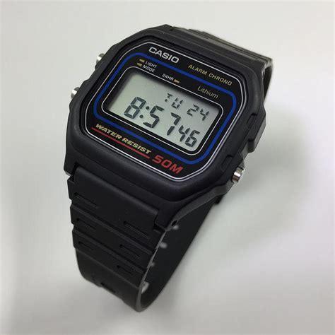 casio w59 s casio black classic casual digital w59 1v