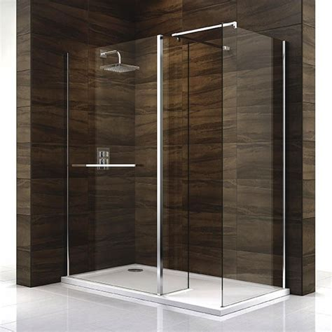 b q bathrooms shower cubicles cascata shower screen and tray from b q walk in showers 10 of the best