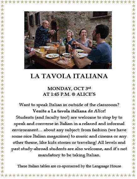 tavola italiana la tavola italiana language house