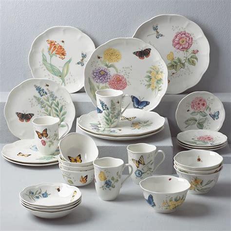 Baterflay Set butterfly meadow 28 dinnerware set by lenox