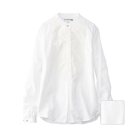 Uniqlo Formal Shirt uniqlo idlf tuxedo stand collar sleeve shirt in white lyst