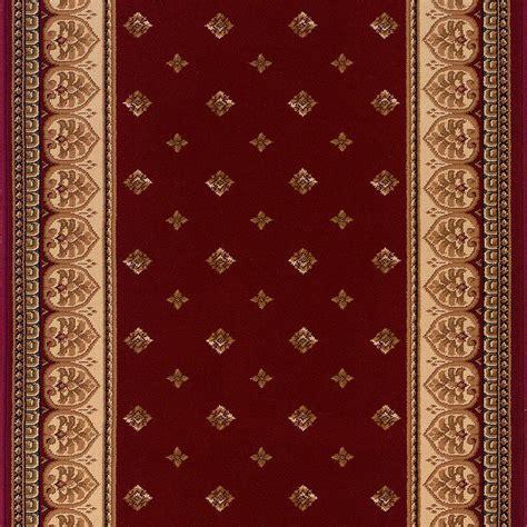 roll runner rugs natco sapphire fleur de lis black 26 in x your choice length roll runner 4338 81 15me the