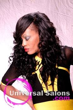 Denise Granberry's Sew In Hairstyle with a Side Part and
