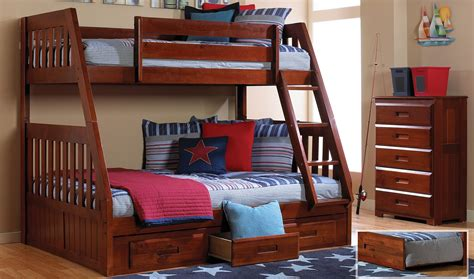Bunk Bed by Discovery World Furniture Merlot Mission