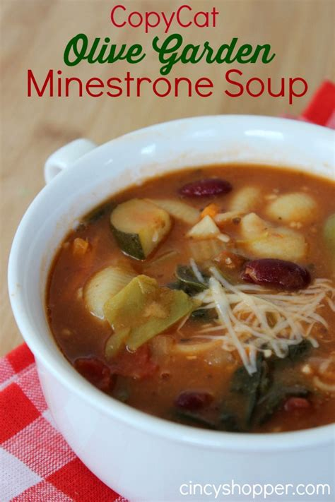 Copycat Olive Garden Minestrone copycat olive garden minestrone soup cincyshopper