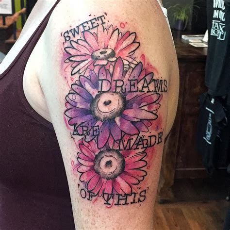 level up tattoo sweet dreams watercolour level up studio