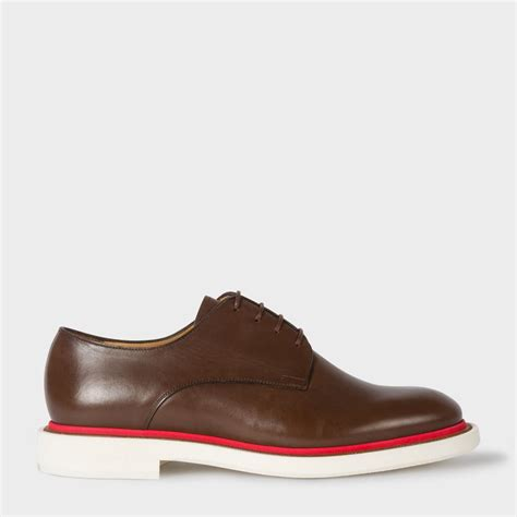 senior sneakers paul smith s brown leather senior derby shoes in