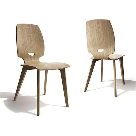 chaise en bois design chaise de salle 224 manger design en bois finn mobilier