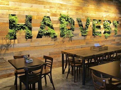 Vertical Garden Restaurant Harvest Cafe Living Wall Habitat Horticulture