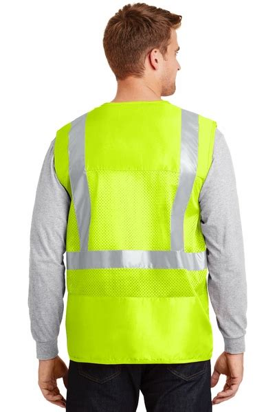 mens hi vis cycling mens high visibility cycle safety vest with mesh back