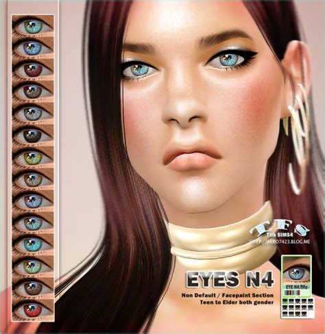 sims 4 realistic eyes eyes n4 by tifa sims 4 nexus