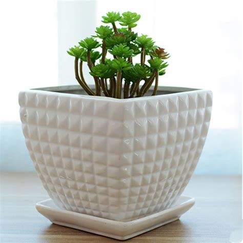 Square Ceramic Plant Pots Free Shipping Flowerpot Ceramic Large Bag Mail Contracted